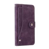 KKmoon 2 em 1 Estilo Retro Telefone Wallet caso capa protetora de couro PU Shell Folio flip coldre Carrying Titular Case for Samsung Galaxy Note7