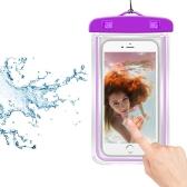 Sac lumineux de téléphone intelligent universel de PVC Waterprooof de fluorescence pour tous les téléphones