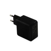 Dual Ports Portable Universal USB Wall Charger UE Plug Chargeur Alimentation Adaptateur Charge rapide pour iPhone / iPad / Samsung / Android smartphone et Plus de périphériques