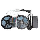 5M 5050 RGB LED Soft Light Strips Ribbon Tape Lamp Remote Wireless Controller Lights Strips Kit