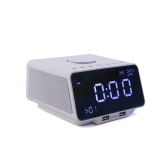 "Multi-functional Bluetooth Speaker Wireless Player Alarm Clock Speaker with FM Radio 5.5"" LED Display Dual USB Port AUX TF Card Play Hands-free Call Indoor Temperature/Time/Date Display"