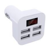 Быстрое автомобильное зарядное устройство с 4 портами USB 5V 3.1A со светодиодным дисплеем Быстрая зарядка Зарядное устройство Адаптер зарядного устройства для iPhone Samsung Huawei iPad Tablet Camera