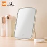 Xiaomi Mijia Espejo de maquillaje LED con control de interruptor táctil de luz Maquillaje portátil natural Luz led Espejo de escritorio para dormitorio 1200mAh