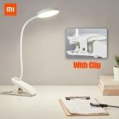 Xiaomi Youpin Lampe de bureau Clip Veilleuse USB Rechargeable 5W 4000K 360 degrés réglable tactile gradation 3 modes d'éclairage lampe de lecture pour chambre