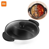 Xiaomi Youpin Hot Pot Nonstick Induction Cooker Gas Stove Compatible Pot Home Kitchen Cookware Soup Cooking Pot Twin Divided 4L