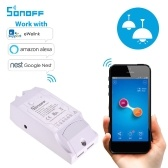 Sonoff Pow R2 WiFi Inalámbrico Smart Switch Smart Home Wifi Control remoto 15A Funciona con Google Home Alexa