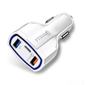 Quick Car Charger With 2 USB Ports Type-C