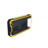 10000mAh太陽エネルギーパネル充電器2つのUSBポート充電式電源バンクスマートフォン用ポータブル充電器