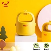 Xiaomi Youpin 9PiG Lámpara repelente de mosquitos Sin ruido físico Asesino de mosquitos Luz UV suave 3D Bionic Allure Mosquito Insect para niños Baby Home