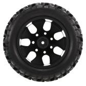 4PCS 1/10オフロードタイヤダブルVトレッドパターン1/10 HSP用スポークリムHPIレッドキャットRC4WD RCモンスタートラック