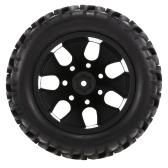 4 SZTUK 1/10 Off-road Tire Double V wzór bieżnika 7 szprychy Rim dla 1/10 HSP HPI Redcat RC4WD RC Monster Truck