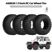 4PCS AX8020 1.9 Inch RC Car Wheel Tire for 1/10 Traxxas TF2 Redcat Rc4wd Tamiya scx10 D90 Hpi Crawler