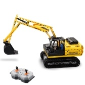 DOUBLE E C51057W 544PCS 2.4G RC Car Excavator Building Blocks Bricks DIY Assemble RC Toy
