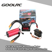 GoolRC S3674 2250KV Brushless silnika S-80A ESC z 9.0kg HV Servo Upgrade Brushless Combo Set for 1/8 RC Car Truck