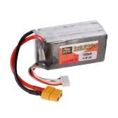 ZOP電源4S 14.8V 1400mAh 65C LiPoバッテリーXT60プラグ