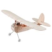 Galileo Balsawood 316mm Wingspan Biplane Warbird Aircraft Light Wood Airplane Kit w/ EPS7 Brushed Motor 5030 Prop