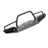 Paraurti anteriore in metallo con 2 luci LED per Traxxas TRX-4 SCX10II 90046 1/10 RC Crawler