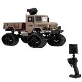 Fayee FY001B 1/16 2,4 GHz 4WD 480 P Wifi FPV Kamera 3000G Load Schnee Reifen Military Truck Offroad RC Auto Crawler mit Led-scheinwerfer für Kinder