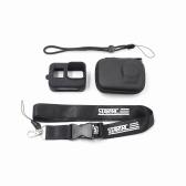 STARTRC GoPro Hero Camera 4 en 1 Juego de accesorios Caja de almacenamiento Funda de silicona Cuerda de mano Cordón para el cuello para cámara GoPro Hero 8 Black