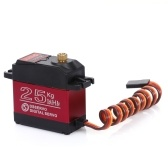 DSSERVO DS3225 25KG Metal Gear High Torque Waterproof Digital Servo with Servo Extended Cable for 1/10 1/8 RC Traxxas HSP Car Boat Helicopter Robot Airplane
