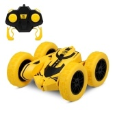 1/28 RC Stunt Car High Speed Tumbling Crawler Vehicle 360 Degree Flips Double Sided Rotating Tumbling(Using AAA battery )