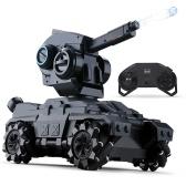 SMRC M10 RC Tank 2,4 GHz Fernbedienungstank mit 360 ° drehbarem Wasserperlen-Revolver (Standardversion)