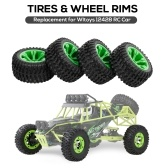 4PCS Widened Tire Replacement for Wltoys 12428 RC Car Tires with Wheel Rims Upgrade Parts
