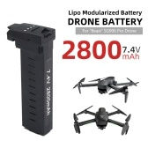 7.4V 2800mAh Aircraft Lithium Battery Compatible with SG906 Pro Drone Battery
