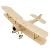 DWH K06 Sopwith Pup RC Airplane Balsa Wood Aircraft 378mm Wingspan Outdoor Flight Toys DIY Assembly Model KIT Version