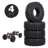 4PCS 110mm 1.9in Rubber Tyre Wheel Tires for 1:10 RC Rock Crawler Compatible with Axial Traxxas Hsp Redcat Rc4wd Tamiya Axial Scx10 D90 Hpi RC Car