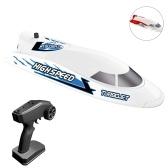 Flytec V008 RC лодка 30 км / ч 2,4 ГГц водонепроницаемая игрушка высокоскоростная лодка на радиоуправлении гоночная лодка