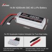 JHpower 14.8V 4200mAh 30C 4S Li-Po Batteria per RC Drone crogiolo di automobile del camion