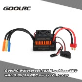 GoolRC Waterproof 45A Brushless ESC Electric Speed Controller with 5.8V/3A BEC for 1/10 RC Car