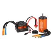 Asciende a prueba de agua GoolRC 3660 3300KV motor sin escobillas con ESC 60A Conjunto de Conjunto de 1/10 RC del coche del carro