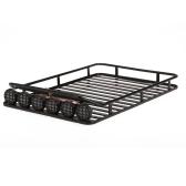 AUSTAR AX-519 Metall Dach Gepäck mit 6 LED Set für Axial SCX10 RC4WD D90 1/10 RC Rock Crawler Auto