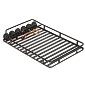 AUSTAR AX-519 Metal Roof Rack Luggage with 6 LED Set for Axial SCX10 RC4WD D90 1/10 RC Rock Crawler Car
