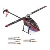 WLtoys XK K130-B helicóptero RC sem escova 3D6G Flybarless FUTABA S-FHSS helicóptero de acrobacias
