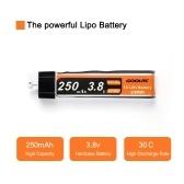 Batterie de mise à niveau Lipo de 4PCS GoolRC 3.8V 250mAh 30C