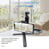STARTRC OSMO Pocket Handheld Mobile Phone Aluminum Tripod Mount Stand Expansion Holder with USB Cable for DJI OSMO Pocket Suitable for Android System Phone