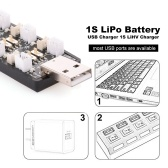 1S LiPo Battery USB Charger 1S LiHV Charger 6 Channel