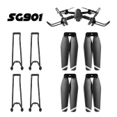 2 Pairs Drone Propeller Quick Release Folding Propellers 4 Propeller Guard Protective Frame Set for SG901 SG907 RC Drone RC Quadcopter Spare Parts