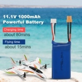 Batteria al litio da 11,1 V 1000 mAh 20 C per ala fissa per aereo Wltoys XK X450 RC
