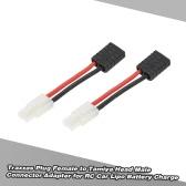 2szt Traxxas Wtyk żeński na Tamiya Głowa Mężczyzna Adapter Connector dla RC Car Lipo Battery Charge
