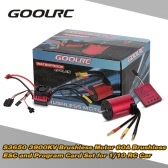 Originale GoolRC S3650 3900KV sensorless motore brushless 60A Brushless ESC e Card Program insieme combinato per 1/10 RC camion dell
