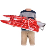 Original VANTEX Super Yacht 1200BP (Red Spider) 60km/h High Speed Electric Fiberglass RC Boat with FS-GT2 2.4G Transmitter