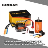 GoolRC Upgrade Waterproof 3660 3800KV bezszczotkowy ze 60A ESC Combo Set for 1/10 RC Car Truck