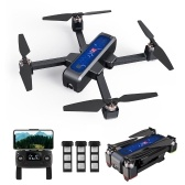 MJX B4W 5G Wifi FPV Brushless GPS RC Drone with 2K Camera Single-axis Gimbal with 3 Battery and Handbag