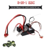 RC Car ESC 3-in-1 ESC Receiver Switch 40A Brushed Electric Speed Controller for for Wltoys 1/12 12427 12428