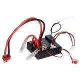 RC coche ESC 3-en-1 ESC interruptor receptor 40A controlador de velocidad eléctrico cepillado para Wltoys 1/12 12427 12428