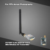 FX799T-2 5.8G 200mW 40CH Mini Wireless AV Transmitter with 5V Output for FPV Aerial Photography